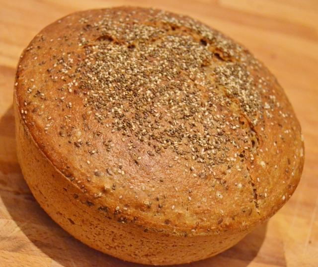 Pão de Centeio e Linhaça integral